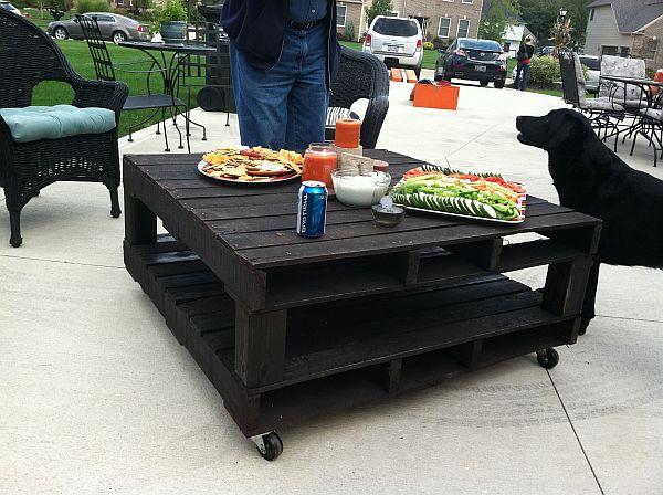mesa de centro com pallets
