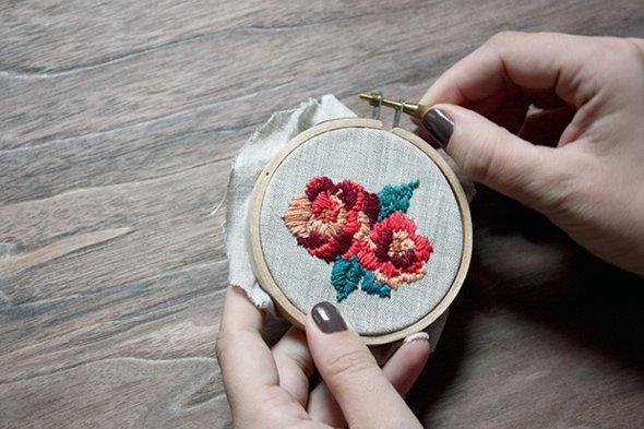 Aparador Para Sala Pequena ~ Como fazer bordado ponto russo passo a passo artesanato com