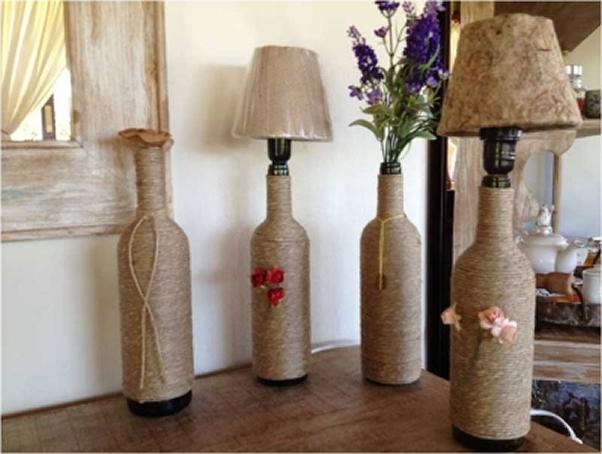 decoracao casamento garrafas de vidro: Guardar a embalagem do álcool bem afastada da garrafa a ser cortada