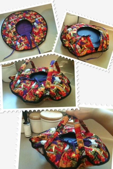Porta-vasilhas em patchwork
