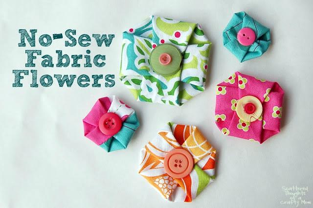 Flores sem costura com botão