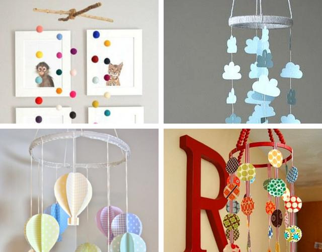 Móbiles para decorar quarto de bebê