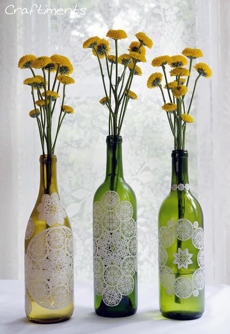 Enfeites e Lembrancinhas com Reciclagem para o Natal. Garrafas de vidro ...