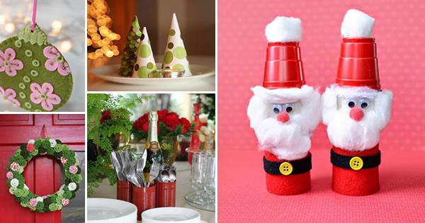Artesanato Ideias Incriveis ~ Artesanato de Natal 16 Ideias Incríveis artesanato com