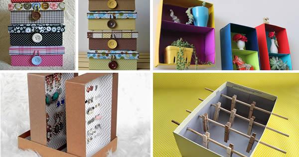 artesanato com caixas de sapato recicladas