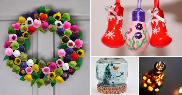 decoração de natal com material reciclado capa
