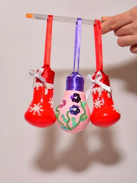 lampadas decoradas para o natal