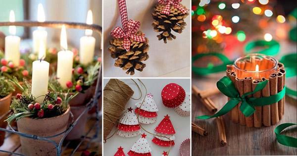 trabalhos manuais para decoracao de interioresDecoração de Natal