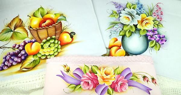 pintura em panos de prato capa