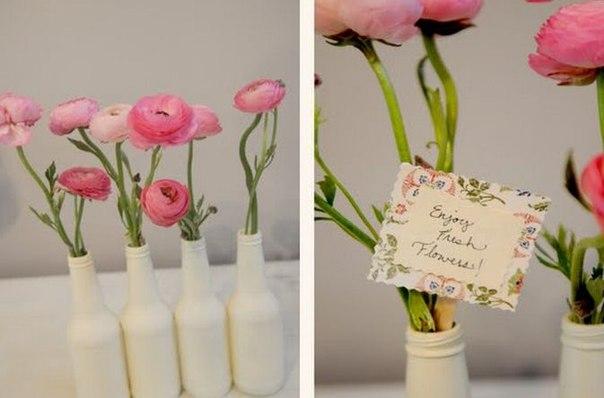 garrafas-pintadas-de-branco-para-decoração