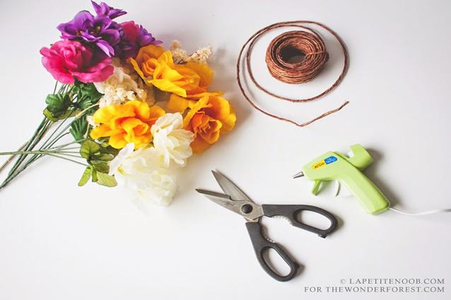 tiara-de-flores-material-necessario