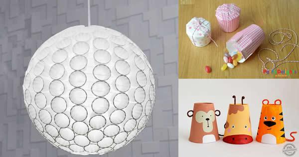 Artesanato Argila Branca ~ 13 Ideias de Artesanato com Copo Descartável artesanato com