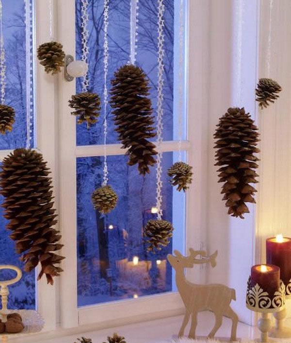 cortina-de-pinhas-decoracao-de-natal