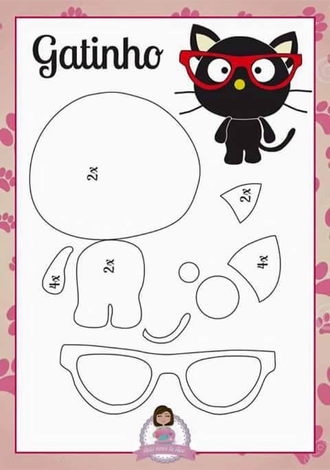 gato-plano-feltro-molde