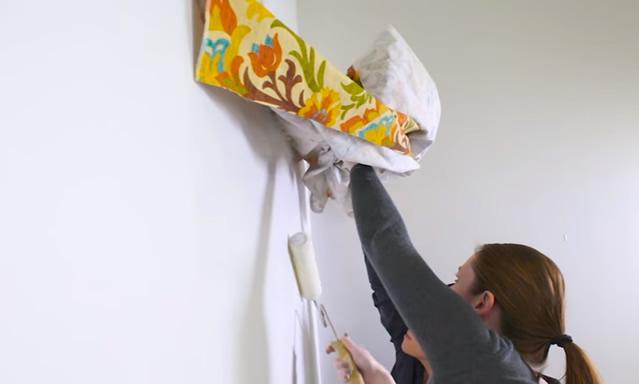 tecido na parede - passo 5