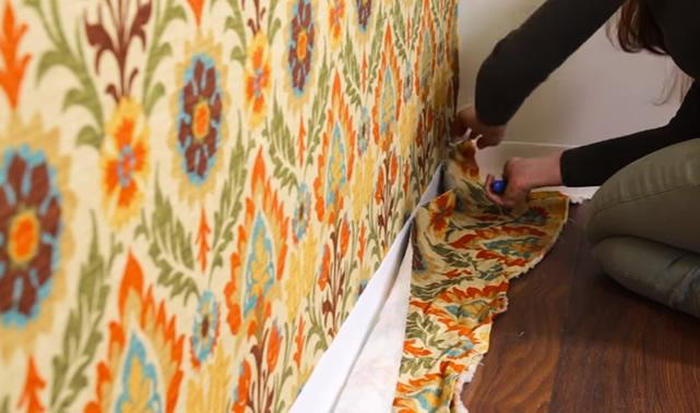 tecido na parede - passo 6