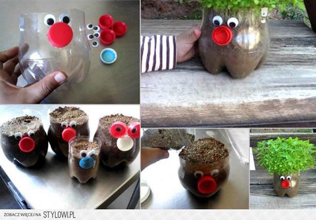 vaso-de-plantas-de-bichinho-com-garrafa-pet