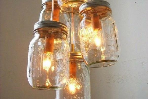 como decorar potes de vidro