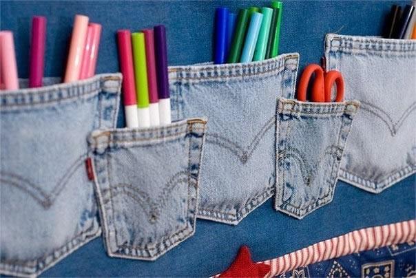 jeans - porta trecos