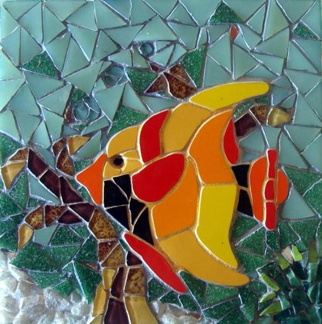 Mosaico produzido com Pastilhas de Resina