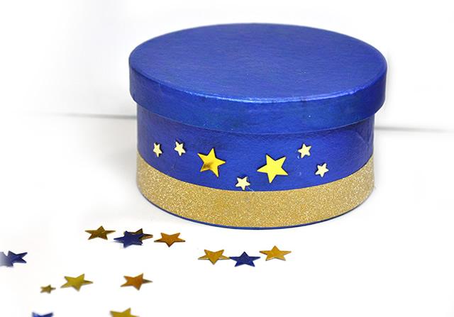 Decore com lantejoulas de estrela