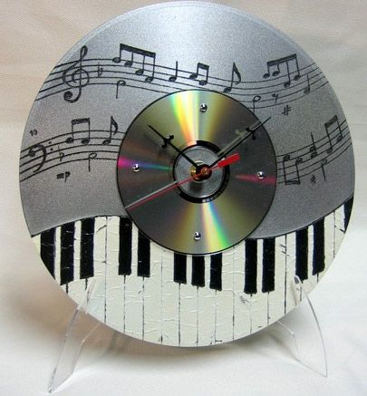 relógio de mesa com cd