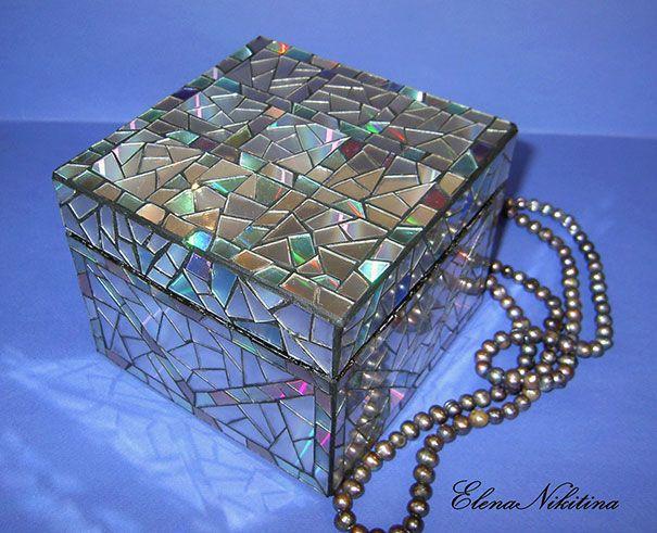 artesanato com CD - Mosaico