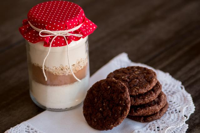 Cookie no pote de vidro-lembrancinhas de natal