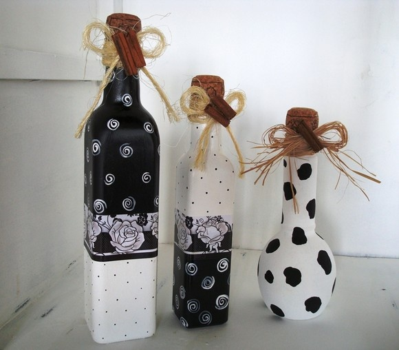 artesanato com garrafas de vidro