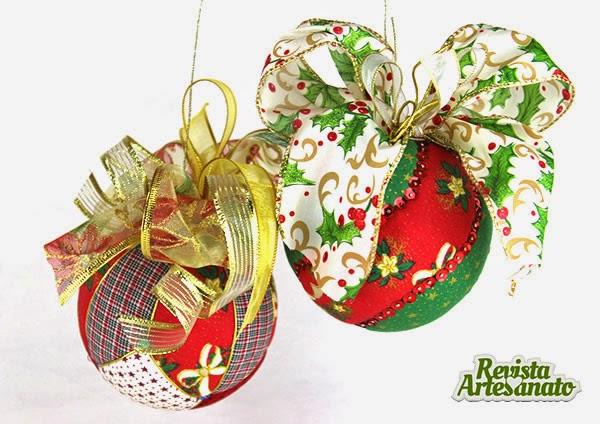 artesanato de natal - bola patchwork embutido