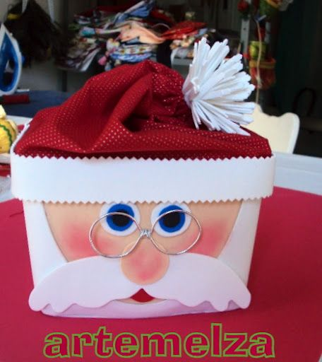 pote de sorvete decorado - lembrancinhas de natal