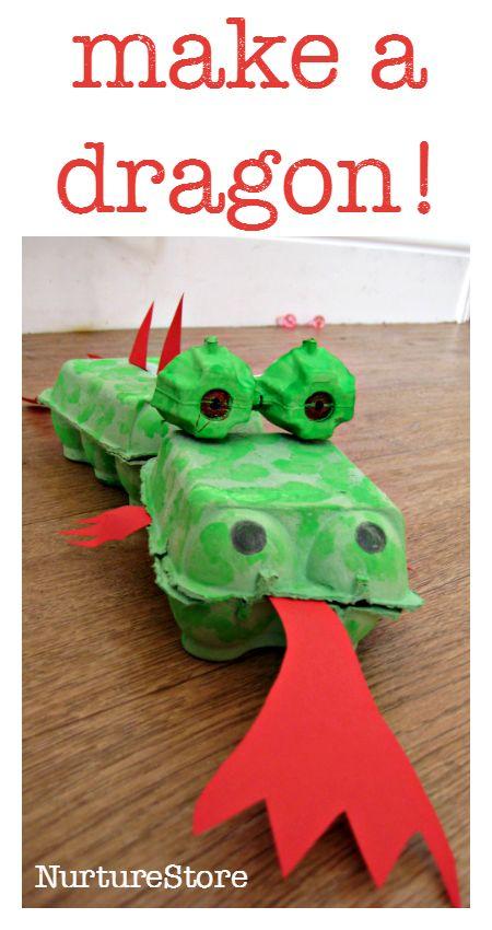 dragão com caixa de ovos