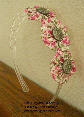 tiara de flores de fuxico