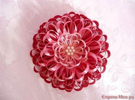 flor com fita fina
