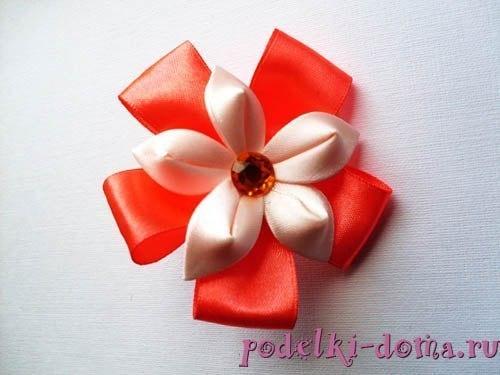 flor de cetim finalizada