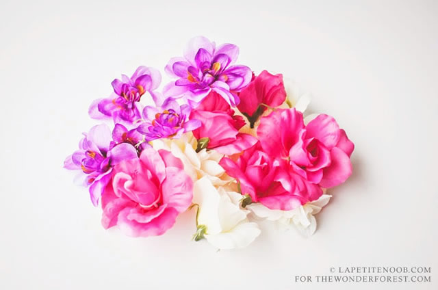 colando-as-flores