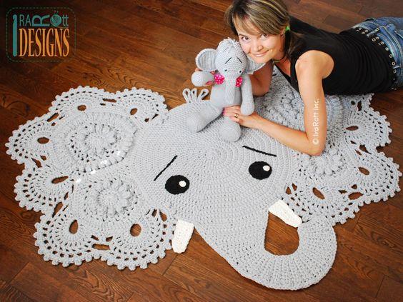tapete-de-croche-elefante