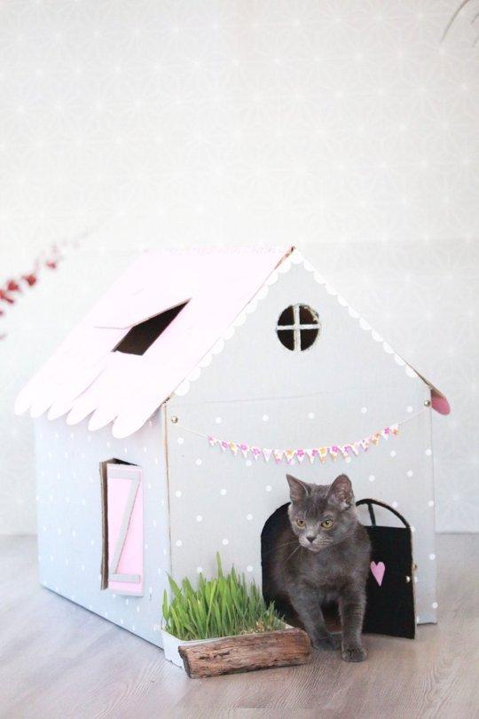 casinha-para-gatos-de-papelão