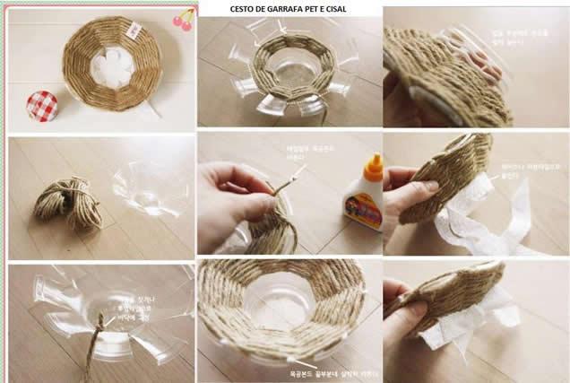 artesanato-com-copo-descartável-cestinha-de-sisal