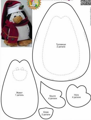 pinguim-de-feltro-com-molde