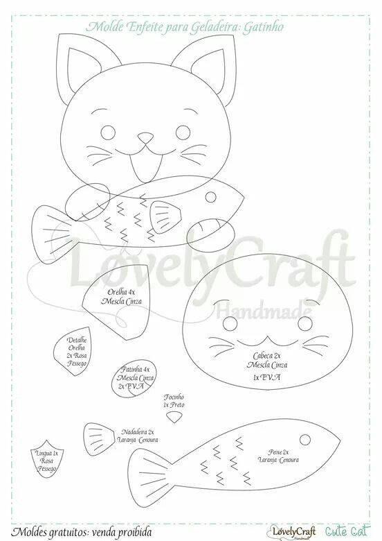 enfeite-de-geladeira-gatinho-feltro-molde