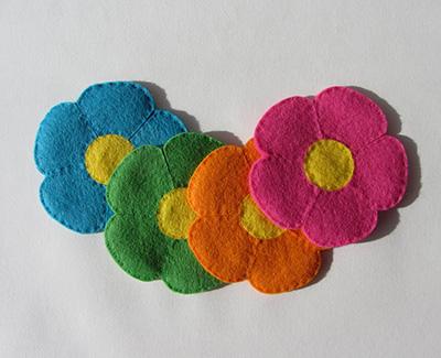 porta-copos de flor