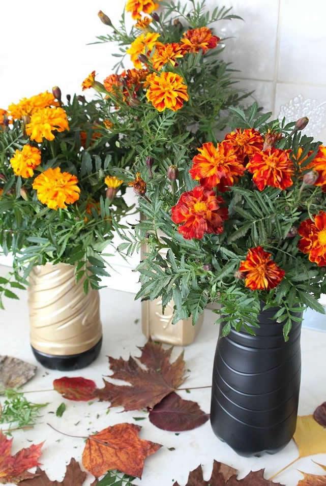 vaso de flores de pet