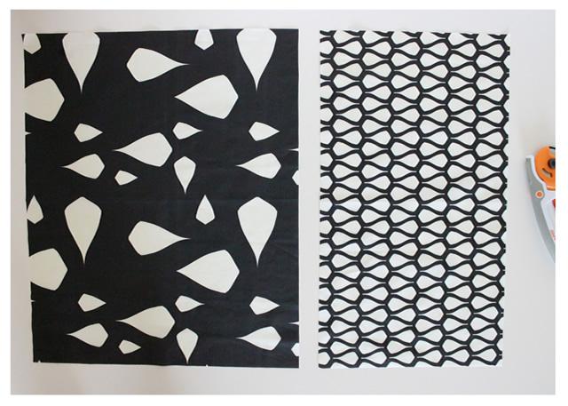 Tecido principal e de contraste