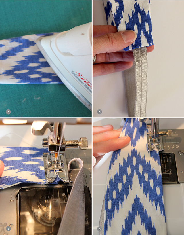 costurando-faixa-de-cabeça-em-tecido