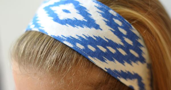 faixa de cabelo em tecido